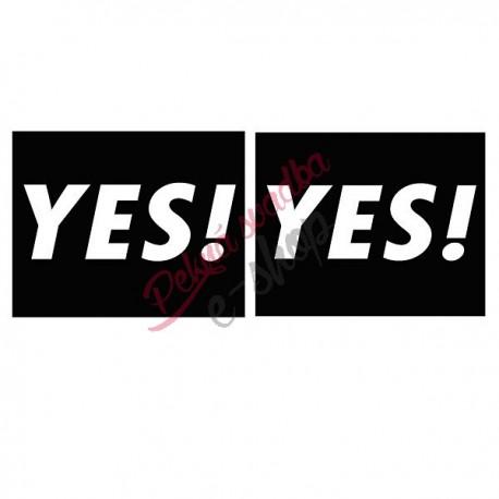 Nálepky č.3 - YES ! YES !