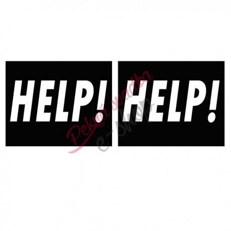 Nálepky č.5 -HELP ! HELP !