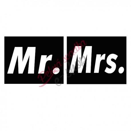 Nálepky č.1 - Mr, Mrs