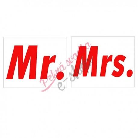 Nálepky č.7 - Mr. Mrs.