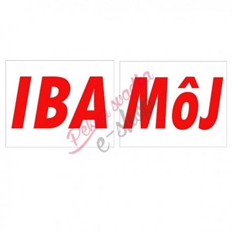 Nálepky č.8 - IBA MôJ