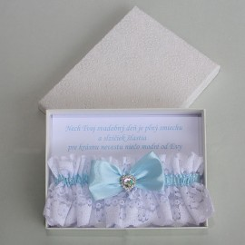 Darčekové balenie podväzku s venovaním