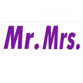 Nálepky č. 11 - Mr, Mrs