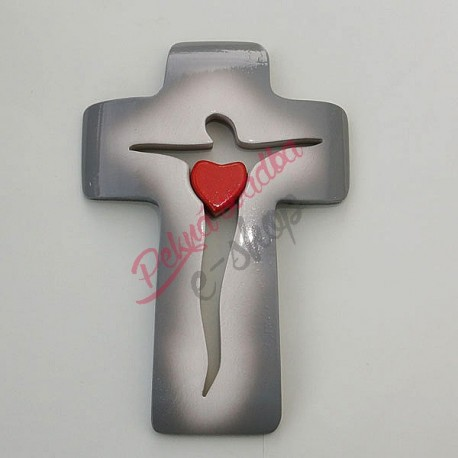 Svadobný krížik A02 21x14 cm