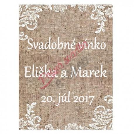 Svadobné etikety č. 34