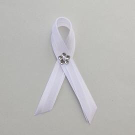 Biele svadobné pierko 10 cm