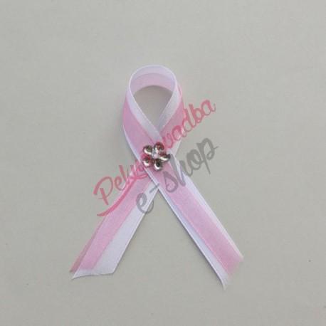 Bielo ružové svadobné pierko