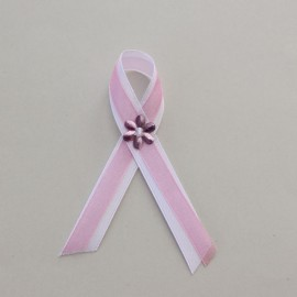 Bielo ružové svadobné pierko 10 cm