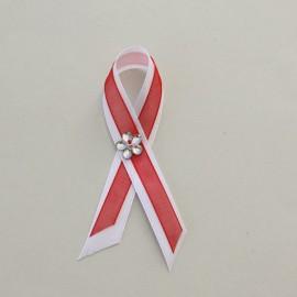Bielo červené sv. pierko 10 cm