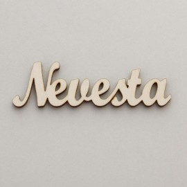 """Drevený nápis """"Nevesta"""" - 8 cm, typ A menší"""