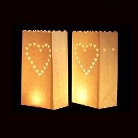 Papierové luminárium -Candle Bags