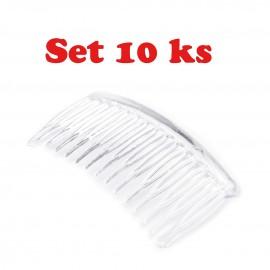 Set 10 kusov hrebienok plastový 4,5x7 cm