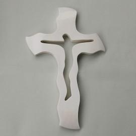 Svadobný kríž 32 biely 28x16,5 cm