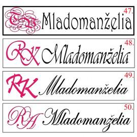 Svadobná špz - vzor monogram