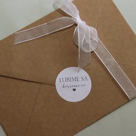 Nálepka na obálky Ľúbime sa, berieme sa - cena za set