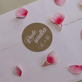 Set nálepiek na obálky A - Bude svadba