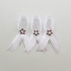 Biele svadobné pierko 5-6 cm