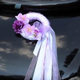 Výzdoba na svadobné auto č. 6