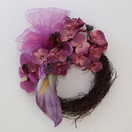 Veniec s levandulovými kvetmi č.1