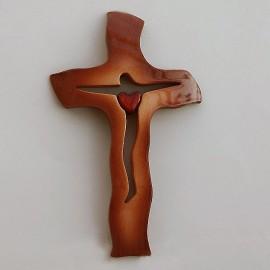 Drevený krížik 20,5x13 cm - A06