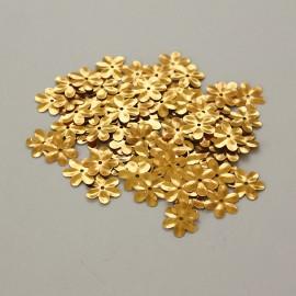 Flitrový kvietok zlatá farba farba