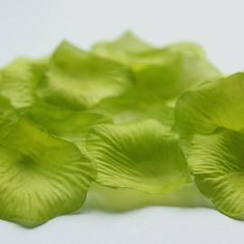 Látkové lupene - svetlo zelené - 100 ks