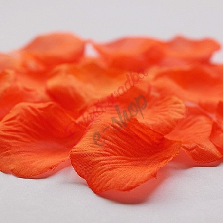 Látkové lupene - oranžové - 100 ks