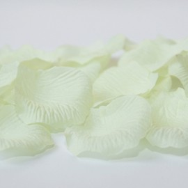 Látkové lupene - smotanové - 100 ks