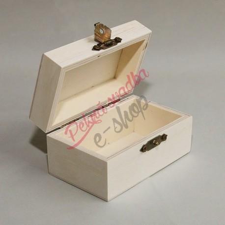 Drevená krabička na obrúčky