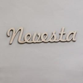 Drevený nápis - Nevesta 4,5 x 18,2 cm