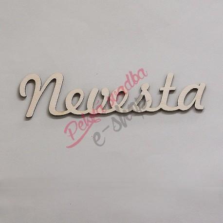 Drevený nápis Nevesta -4,5 x 18,2 cm