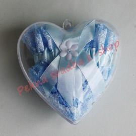 Plastové srdiečko - bez podväzku - darčekové balenie