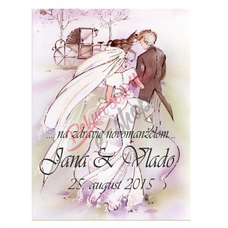 Svadobné etikety č. 6