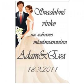 Svadobné etikety č. 18