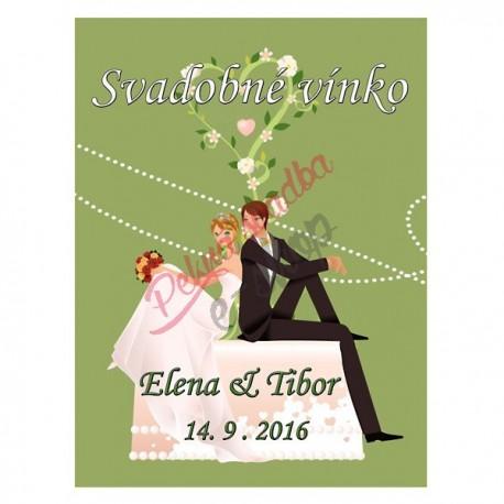 Svadobné etikety č. 26