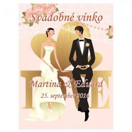 Svadobné etikety č. 56