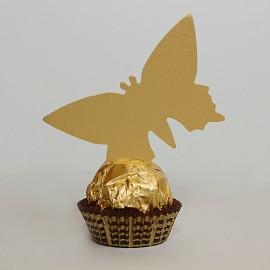 Menovky motýľ - bez textu - zlatá farba