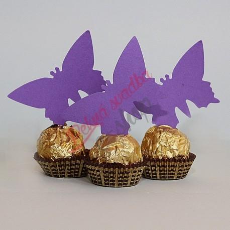 Menovky motýľ - bez textu - fialová farba