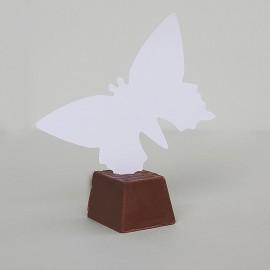 Menovky motýľ - bez textu - biela farba