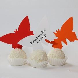 Menovky motýľ - s textom - rôzne farby