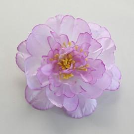 Saténový látkový kvet - ružovo levandulový