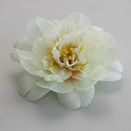 Saténový látkový kvet - maslový tmavšií