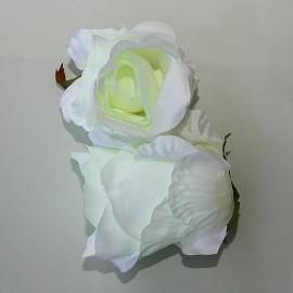 Saténový látkový kvet - maslový