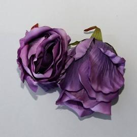 Saténový látkový kvet - levandulovo fialový