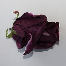 Saténový látkový kvet - bordový tmavý