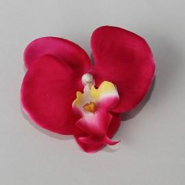 Saténový látkový kvet - cyklámenový