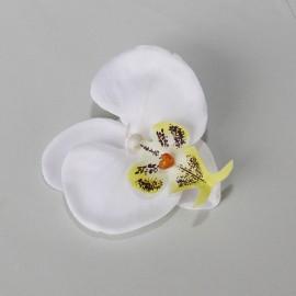 Saténový látkový kvet - biely