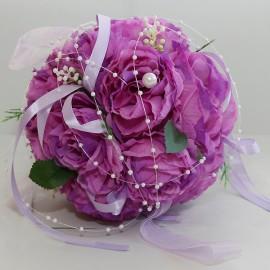Dekoračné gule z kvetov - levandulová farba