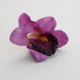 Saténový látkový kvet - levandulový