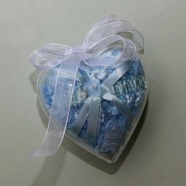 Plastové srdiečko v darčekovom balení so stuhou